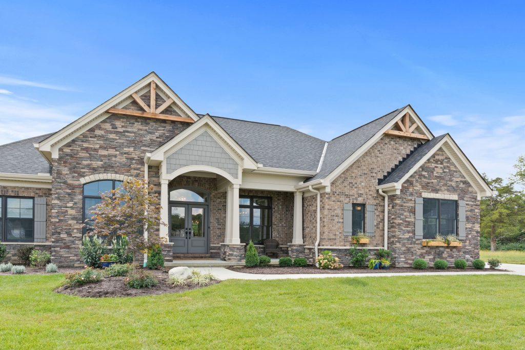 Landscaping at custom Wieland Builders ranch