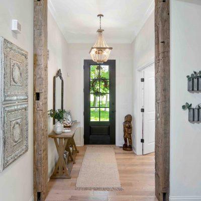 hallway with antique door