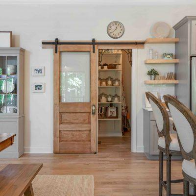 antique barn style pantry door