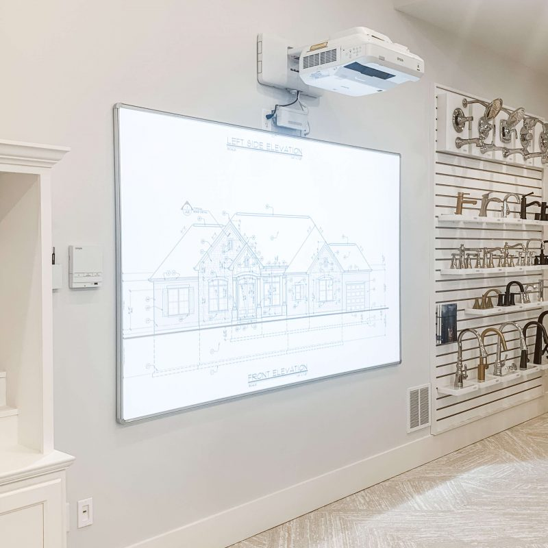 Wieland Builders selection center projector